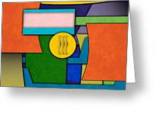 Abstract Shapes Color One Greeting Card by Gary Grayson