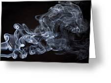 Abstract smoke running horse Greeting Card by Setsiri Silapasuwanchai