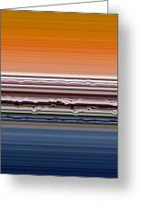 Abstract Sunset Greeting Card by Michelle Calkins