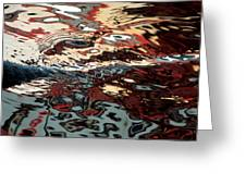 Abstract Water Reflection 64 Greeting Card by Andrew  Hewett