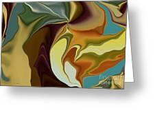 Abstract With Mood Greeting Card by Deborah Benoit
