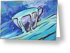 Abundance - My Cup Runneth Over Greeting Card by Sandy Tracey