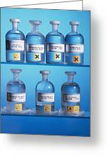 Acid Bottles Greeting Card by Andrew Lambert Photography