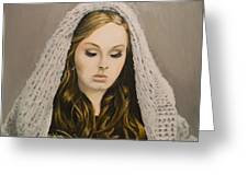 Adele Greeting Card by Eric Barich
