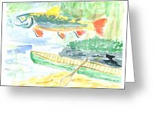 Adirondack Dreaming Greeting Card by David Crowell
