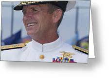 Admiral Eric T. Olson Speaks Greeting Card by Michael Wood
