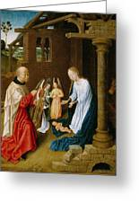 Adoration Of The Christ Child  Greeting Card by Master of San Ildefonso