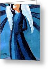 Adrongenous Angel Greeting Card by Genevieve Esson