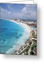Aerial Of Cancun Greeting Card by Bill Bachmann - Printscapes