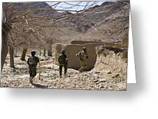 Afghan Commandos Are Guided Greeting Card by Stocktrek Images