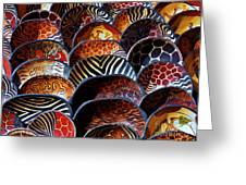 African Art  Wooden Bowls Greeting Card by Werner Lehmann