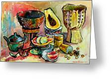 African Still Life Greeting Card by Yelena Tylkina