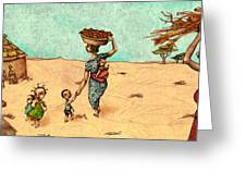Africans Greeting Card by Autogiro Illustration