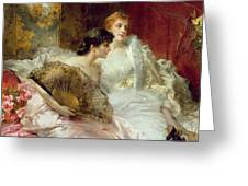 After The Ball Greeting Card by Conrad Kiesel