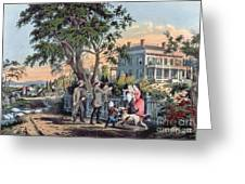 After The Hunt Greeting Card by Currier and Ives