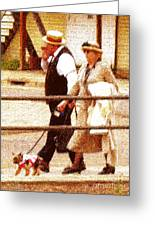 Afternoon Stroll Greeting Card by Cristophers Dream Artistry