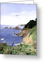 Agate Cove Greeting Card by Gwen Ontiveros