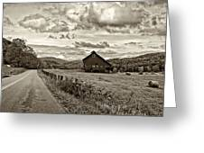 Ah...west Virginia Sepia Greeting Card by Steve Harrington