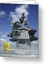 Air Department Sailors Test Greeting Card by Stocktrek Images
