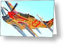 Air Racing Reno Style Greeting Card by Gus McCrea