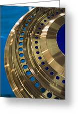Aircraft Engine Component Greeting Card by Mark Williamson