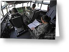 Aircrew Perform Preflight Checklists Greeting Card by Stocktrek Images
