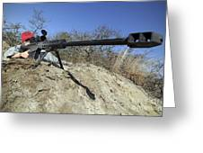Airman Sights A .50 Caliber Sniper Greeting Card by Stocktrek Images