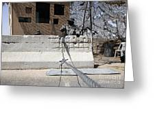 Airman Stands Post To The Entry Control Greeting Card by Stocktrek Images