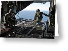 Airmen Wait For The Signal To Deploy Greeting Card by Stocktrek Images