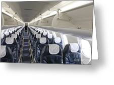 Airplane Seating Greeting Card by Jaak Nilson