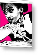 Aisha Pink Greeting Card by Naxart Studio