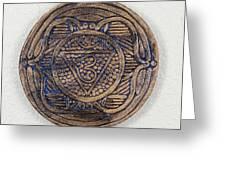 Ajna Third Eye Chakra Plate Greeting Card by Jaimie Gunn