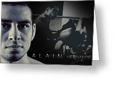 Alain Hernandez Mixed Martial Artist Greeting Card by Lisa Knechtel