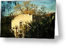 Alamo Mission Greeting Card by Iris Greenwell