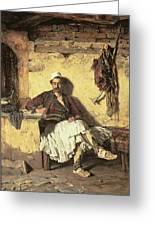 Albanian Sentinel Resting Greeting Card by Paul Jovanovic