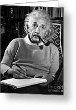 Albert Einstein Greeting Card by Granger