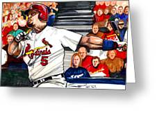 Albert Pujols Greeting Card by Dave Olsen