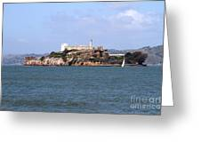 Alcatraz Island In San Francisco California . South Side . 7d14288 Greeting Card by Wingsdomain Art and Photography