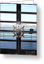 Alcatraz Island The Doors Of The Maritime Museum In San Francisco California . 7d14086 Greeting Card by Wingsdomain Art and Photography