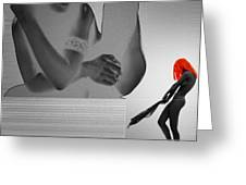 Alias Greeting Card by Naxart Studio