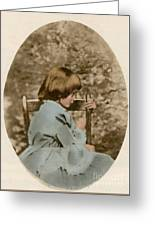 Alice Liddell, Alices Adventures Greeting Card by Science Source