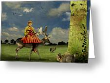 Alice Greeting Card by Martine Roch