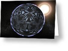 Alien Patterns On A Neutron Star, Artwork Greeting Card by Christian Darkin