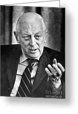 Alistair Cooke (1908-2004) Greeting Card by Granger