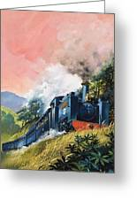 All Aboard For Devil's Bridge Greeting Card by English School