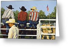 All American Greeting Card by Pat Burns