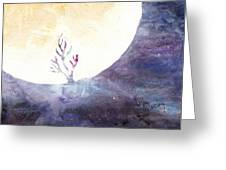 All The Magic Of The Earth And The Skies Greeting Card by Lesley Atlansky