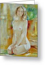 Alone At Home Greeting Card by Sergey Ignatenko