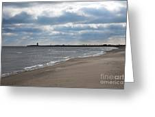 Along The Shore Greeting Card by Dan Holm
