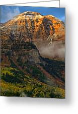 Alpenglow On Mt. Timpanogos Greeting Card by Utah Images